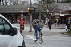 Business & Industrie Verkehrsampel Fußgänger Einen Effekt In Richtung Klare Sicht Erzeugen